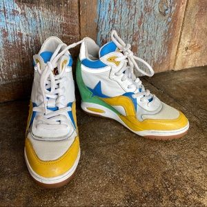 Ash Limited Multi Colored Wedge Sneakers